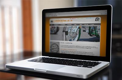 Voor Group Cé te Hasselt-Kermt werd een productwebsite ontwikkeld voor hun afdeling aan motorsteunen van Condor