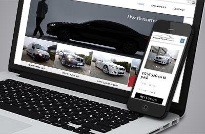Responsive website met CMS systeem voor Brooklands Cars te Hasselt