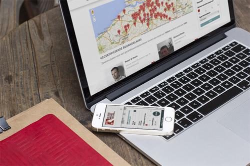 Uitwerking responsive website met registratiemodule en ledenzone