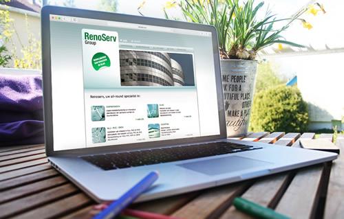 Website voor Renoserv te Hasselt, Limburg